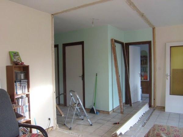 You are currently viewing Suppression d'un mur en placo pour agrandir la pièce