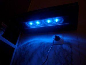 Etagère en carrelage à LED