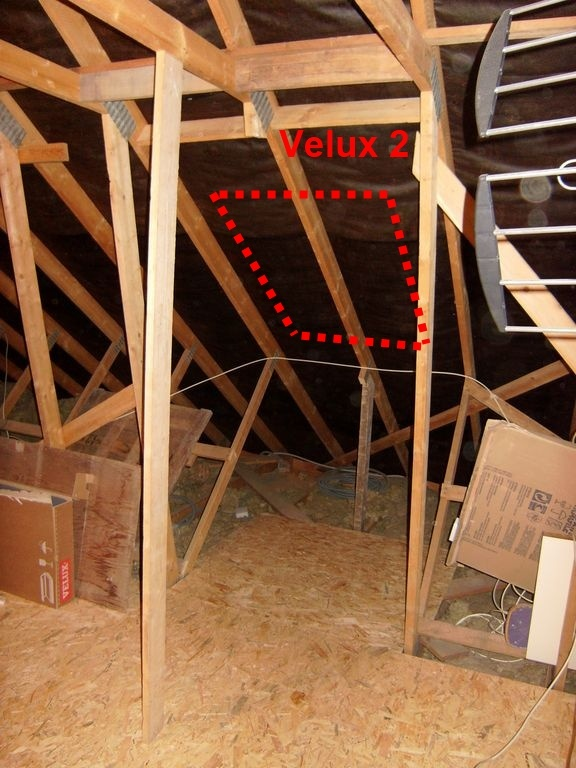 modification charpente pour les velux. Black Bedroom Furniture Sets. Home Design Ideas