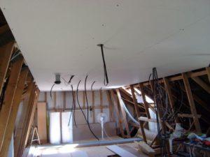 Placo du plafond posé !