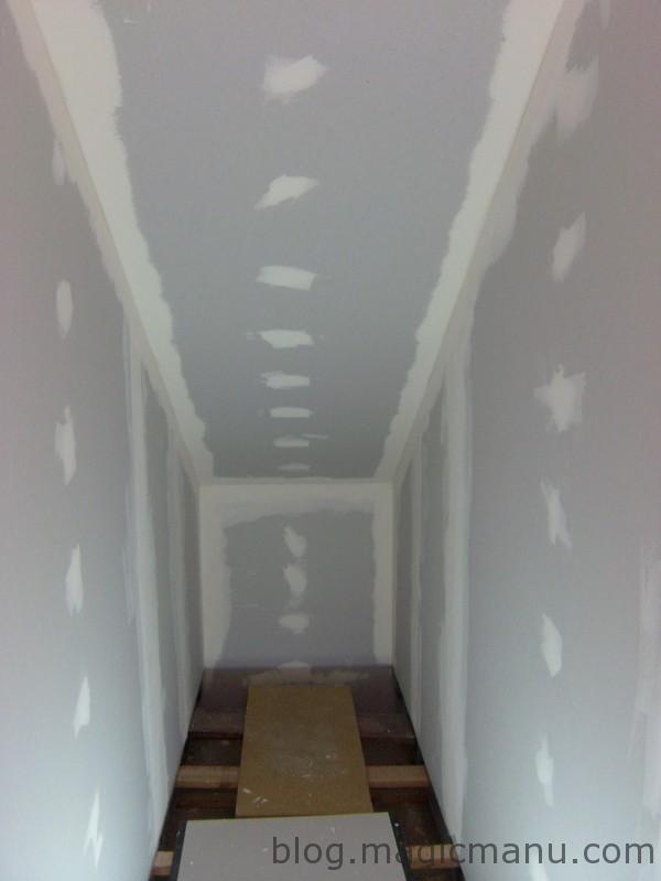 Bandes placo escalier