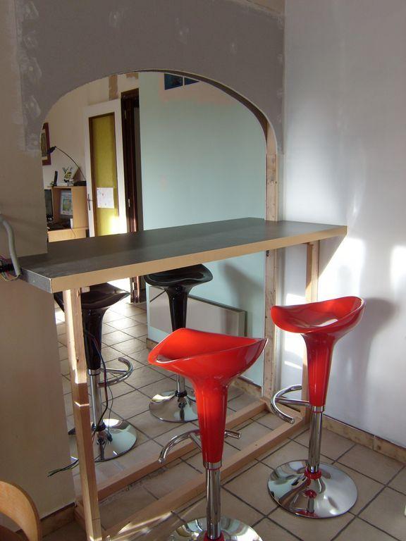 Blog de magicmanu :Aménagement de notre maison, Passe-plat - Bar : Le plan de travail