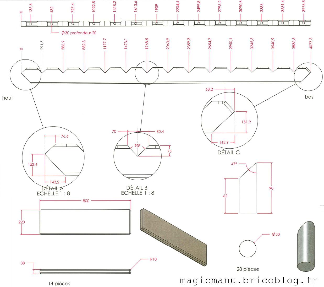 fabriquer son escalier. Black Bedroom Furniture Sets. Home Design Ideas