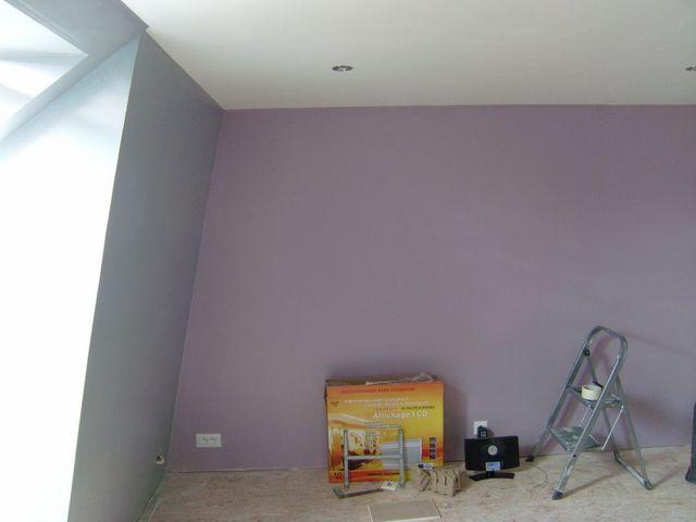 Blog de magicmanu : Aménagement de notre maison, Peinture Chambre (Violet & Gris)