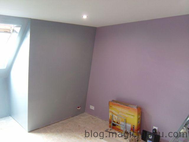Peinture Chambre (Violet & Gris)