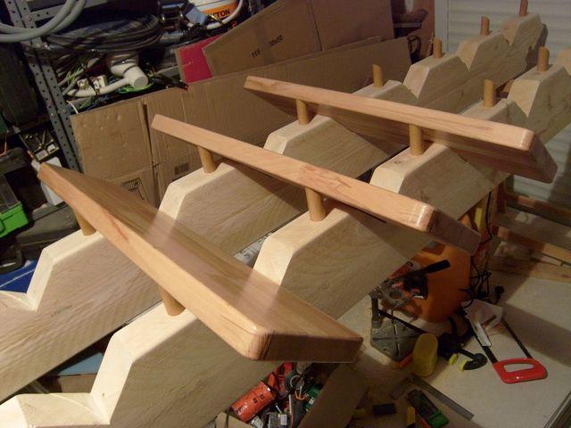 Blog de magicmanu : Aménagement de notre maison, Finitions escalier avant assemblage