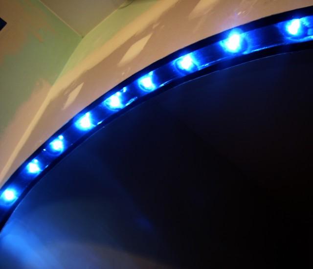 Blog de magicmanu :Aménagement de notre maison, Eclairage à LED du passe-plat