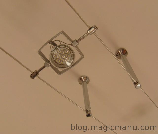 Blog de magicmanu :Aménagement de notre maison, Spots à LED sur Câbles