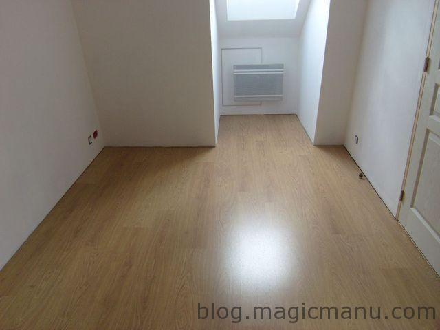Blog de magicmanu :Aménagement de notre maison, Sol stratifié chêne dans la chambre