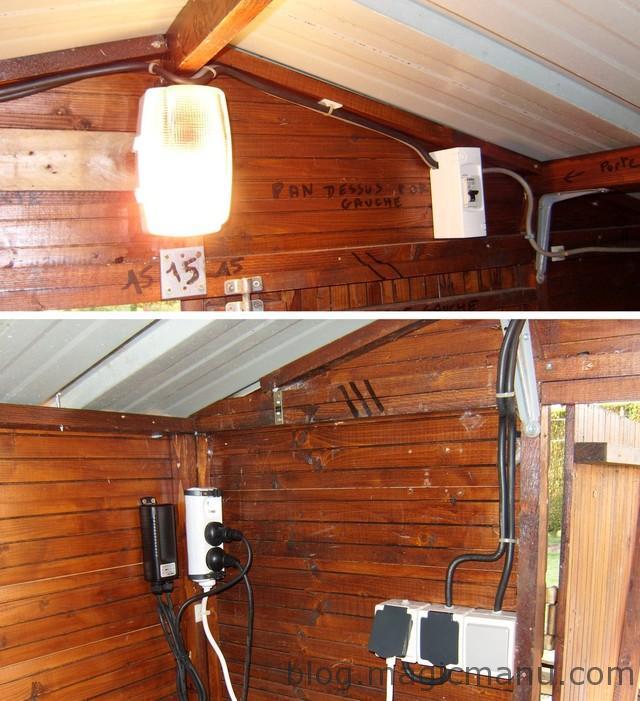 Blog de magicmanu :Aménagement de notre maison, Abri de jardin - L'électricité