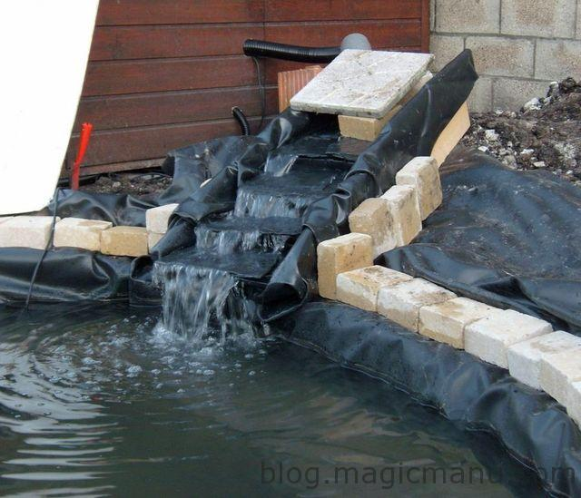 bassin de jardin la cascade magicmanu. Black Bedroom Furniture Sets. Home Design Ideas