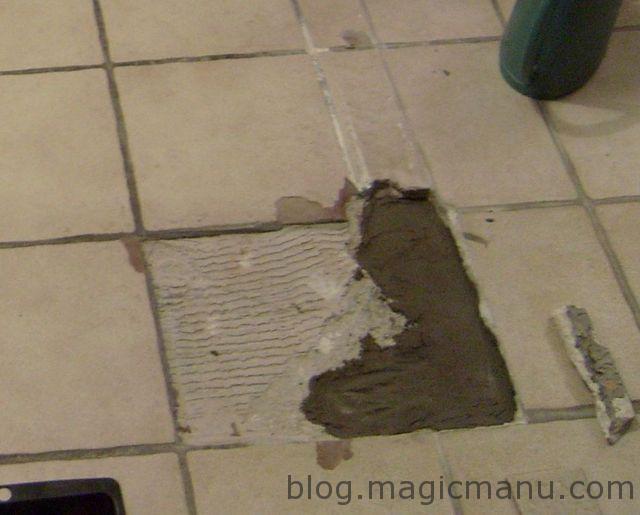 Blog de magicmanu : Aménagement de notre maison, Réparer du carrelage