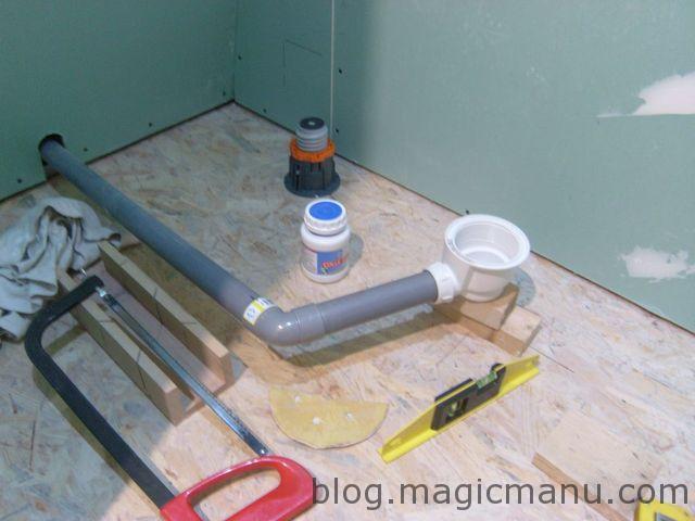 Blog de magicmanu : Aménagement de notre maison, Pose du receveur de douche