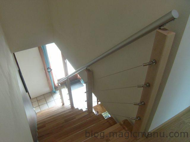 Rambarde escalier originale rampe duescalier et main for Creer un escalier interieur