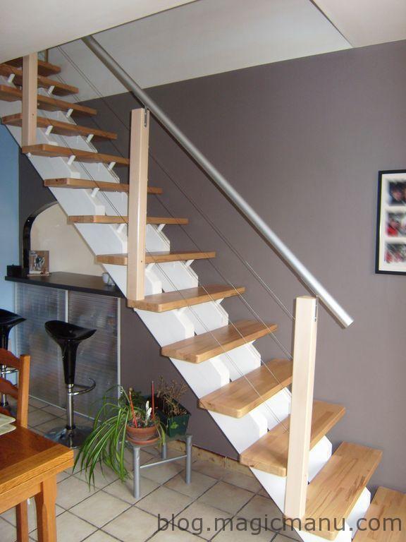 Blog de magicmanu :Aménagement de notre maison, Comment fabriquer une rampe d'escalier moderne