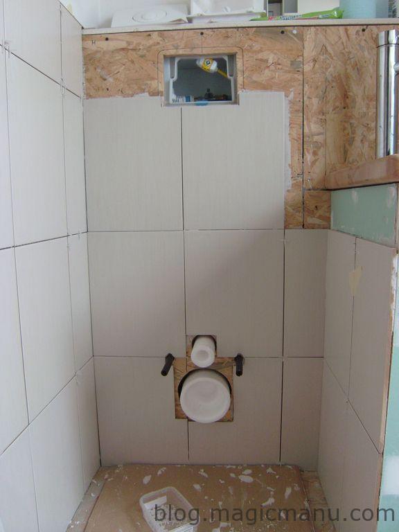 Blog de magicmanu : Aménagement de notre maison, Carrelage coin WC et lavabo