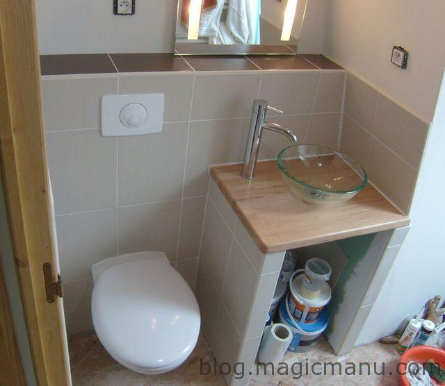 Carrelage coin wc et lavabo for Carrelage de wc