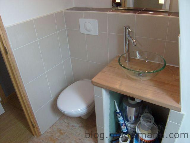 carrelage coin wc et lavabo. Black Bedroom Furniture Sets. Home Design Ideas