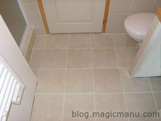 Joint carrelage marron for Carrelage salle de bain marron