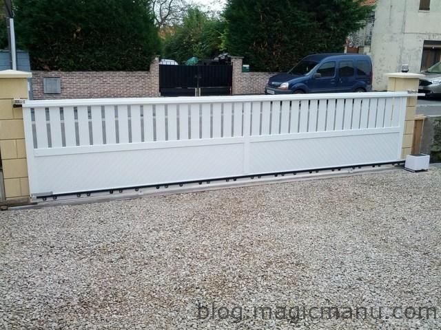 Blog de magicmanu : Aménagement de notre maison, Portail coulissant : la motorisation (Extel Cara)