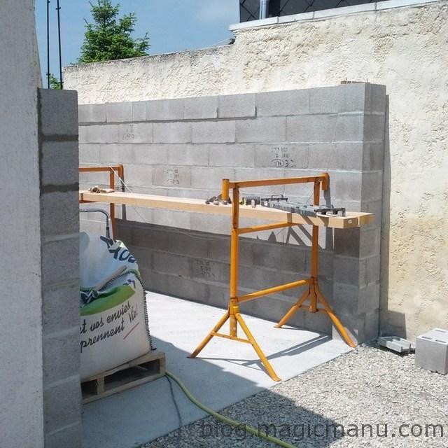 Blog de magicmanu : Aménagement de notre maison, Garage : les murs en parpaing