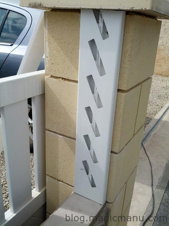 Blog de magicmanu : Aménagement de notre maison, Clôture façade en PVC