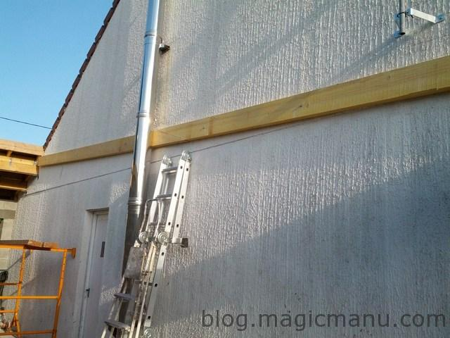 Garage la toiture en bac acier isol for Ajouter garage contre maison