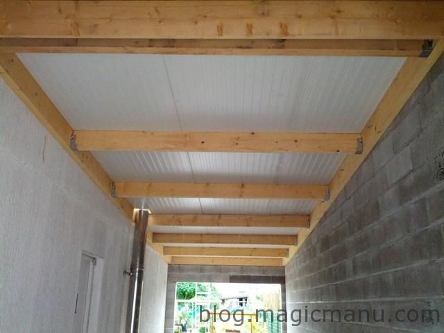 Garage la toiture en bac acier isol for Isoler un garage plafond