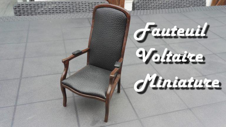 [Mini Tuto] Fauteuil Voltaire miniature
