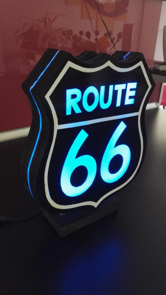 Urne Lumineuse Route 66 9