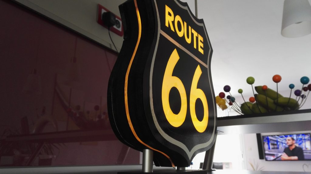 Urne Lumineuse Route 66 3