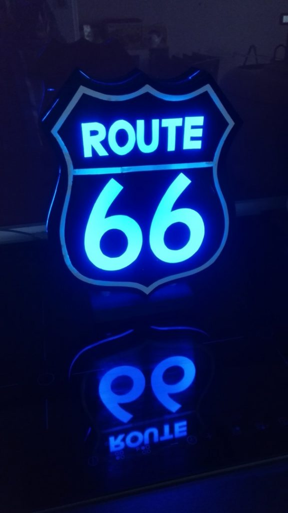 Urne Lumineuse Route 66 8