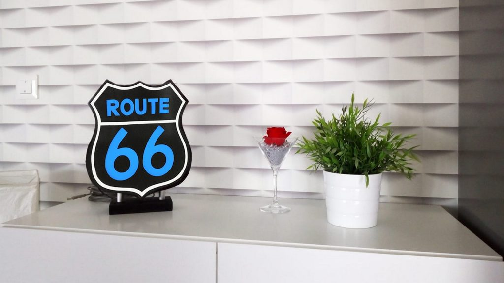 Urne Lumineuse Route 66