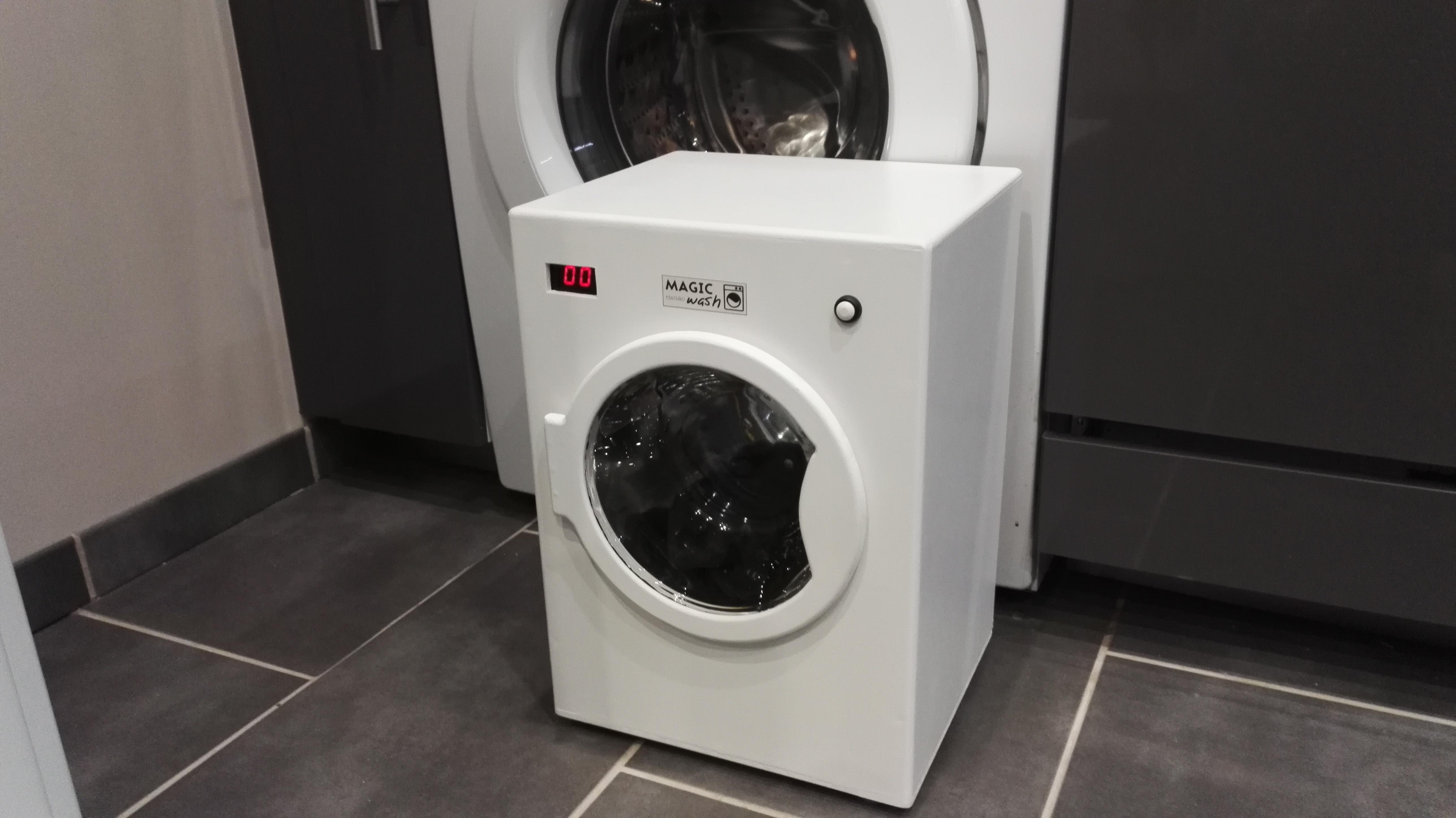 Fabriquer un lave linge motorisée pour enfant