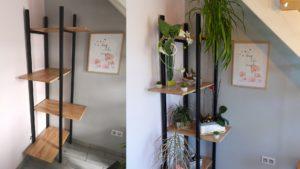Fabriquer une étagère d'angle en bois et métal pour plantes
